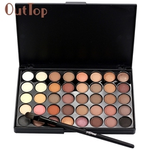 Levert Dropship Cosmetic Matte Eyeshadow Cream Makeup Palette Shimmer Set 40 Color+ Brush Set  0325B
