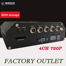 H.264 Hard Disk Mobile Dvr 12V 720p/D1 Black Box Monitoring Equipment Cycle Recording Automotive Recorder(China)