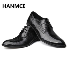 HOT Sale ! 2018 NEW Fashion Men Oxfords shoes High Quality Genuine Leather Wedding Evening Party shoes business dress men shoes(China)