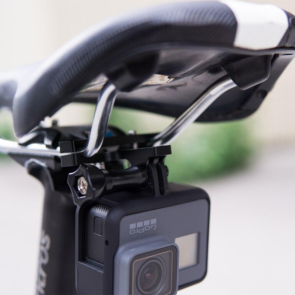 4Pcs para Cámara GoPro Sillín De Bicicleta Adaptador de montaje carril Asiento de Carreras Accesorios