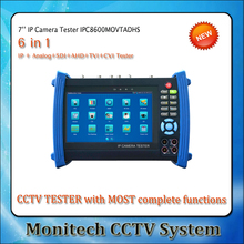 Multi-functional IPC-8600MOVTADHS 7'' touch Screen IP IPC Analog TVI CVI AHD SDI Camera Tester CCTV Security Test Monitor(China)