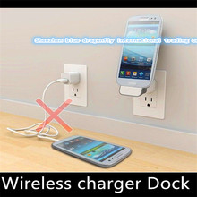 MINI Micro usb iDock Wireless wall Charger Dock Adapter station For Samsung S 3 4 5 6 7 edge Note 2 3 4 Xiaomi into USB Socket(China)