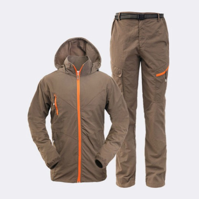 Men Women Kids Quick Dry Camping Hiking Shirt &amp; Pants Sports Tactical Suits Outdoor Fishing Breathable zip off Shirts Anti Uv<br>