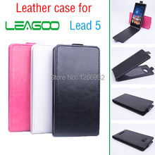Accessories For Leagoo Lead 5 Lead5 Old School Business PU Leather Flip Vertical Case For Leagoo Lead 5 Cell Phone Book Cover(China)