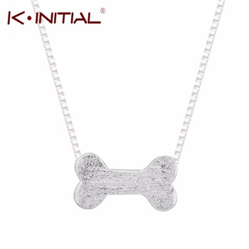 1Pcs New Custom Dog Bone Necklace Popular Design Animal Bones Necklaces for Women 925 Silver Collares Necklace Pendant Jewelry