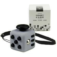 Mini Fidget Cube Vinyl Desk Toy Keychain Squeeze Fun Stress Reliever 2.2cm 11 Colour Click Glide Flip Spin Breathe Roll With Box(China)