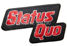 STATUS QUO Red Music Band LOGO Embroidered NEW IRON ON and SEW ON Patch Heavy Metal Custom design patch available(China)