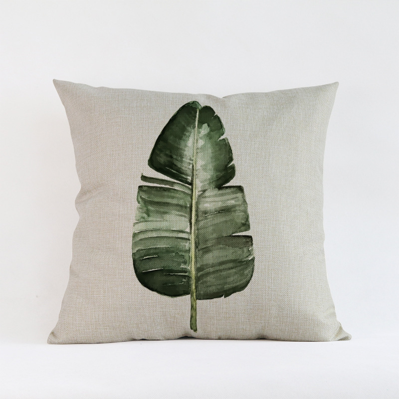Tropical-Plants-Palm-Leaves-Cactus-Cushion-Pillow-Case-Hand-Painting-Green-Plants-Sofa-Throw-Pillow-Cover (4)