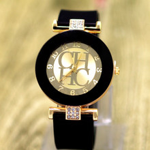 Buy Relogios Femininos Hot Fashion Brand Gold Geneva sport Quartz Watch Women dress casual Crystal Silicone Watches relojes hombre for $3.51 in AliExpress store