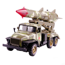 1/32 Diecast Military Rocket Sled Vehical Children Toys With Gift Box Pull Back Function As Souvenir(China)