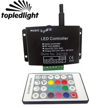 Portable Lighting Accessories Music RGB Controller Common Anode 12-24V 4A 4 Channel Led Controller With RGBW Remote Control(China)