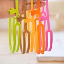 Hot Sale New Cute Silicone Finger Pointing Bookmark Book Mark Office Supply Funny Gift Drop Shipping(China)
