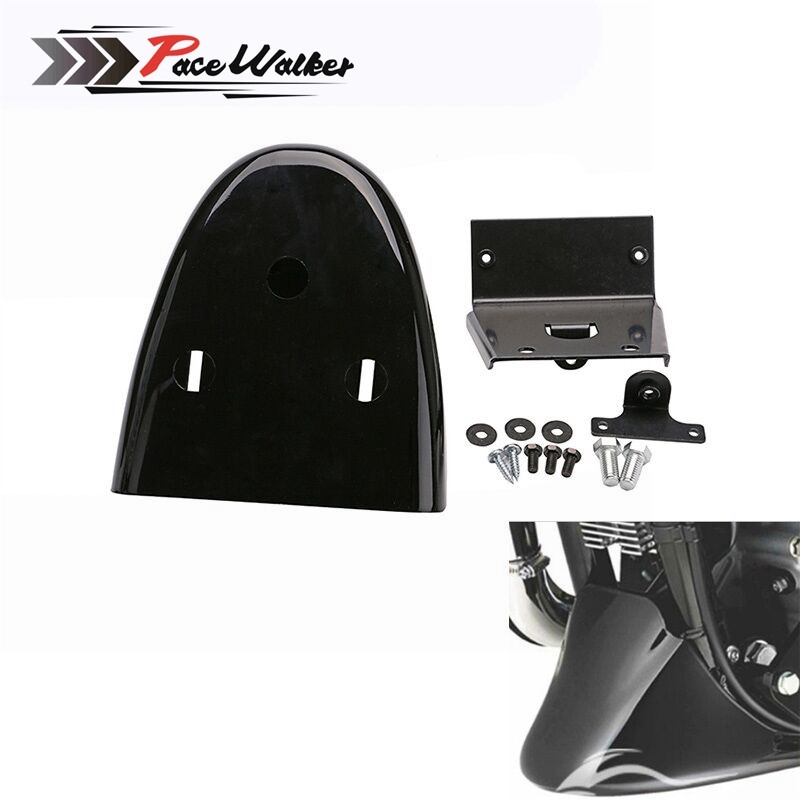 FREE SHIPPING Bright Black Vivid Gloss Black Front Bottom Spoiler Mudguard Fits For Sportster 1200 XL Iron 883 2004-2016<br>