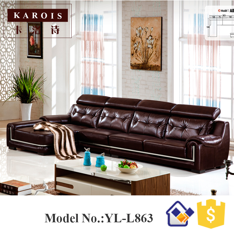 Modern Leather Mooka Sofa Living Room Furniture King Size Sofa Modernos  Para Sala
