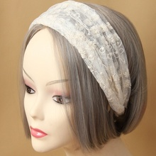 Brand New Personality Retro Women White Lace Hair Band Beautiful Lace Headband Head Wrap Ribbon Hair Accessories Popular