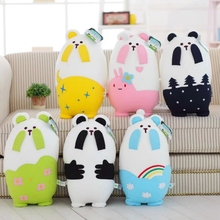 "2016 ""Forest Bear in mind distress"" cute doll pillow nanoparticles, face Teddy panda, Children's Day gift"