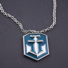 Game Theme pendant necklace Metal World of Warships Logo charm necklace