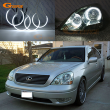 For LEXUS LS430 2001 2002 2003 headlight Excellent Ultra bright illumination CCFL Angel Eyes kit Halo Ring(China)