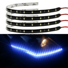 1Pcs High Power 12V 30cm LED Daytime Running lights DRL Waterproof 3528 SMD Car Auto Decorative Flexible LED Strip Fog lamp