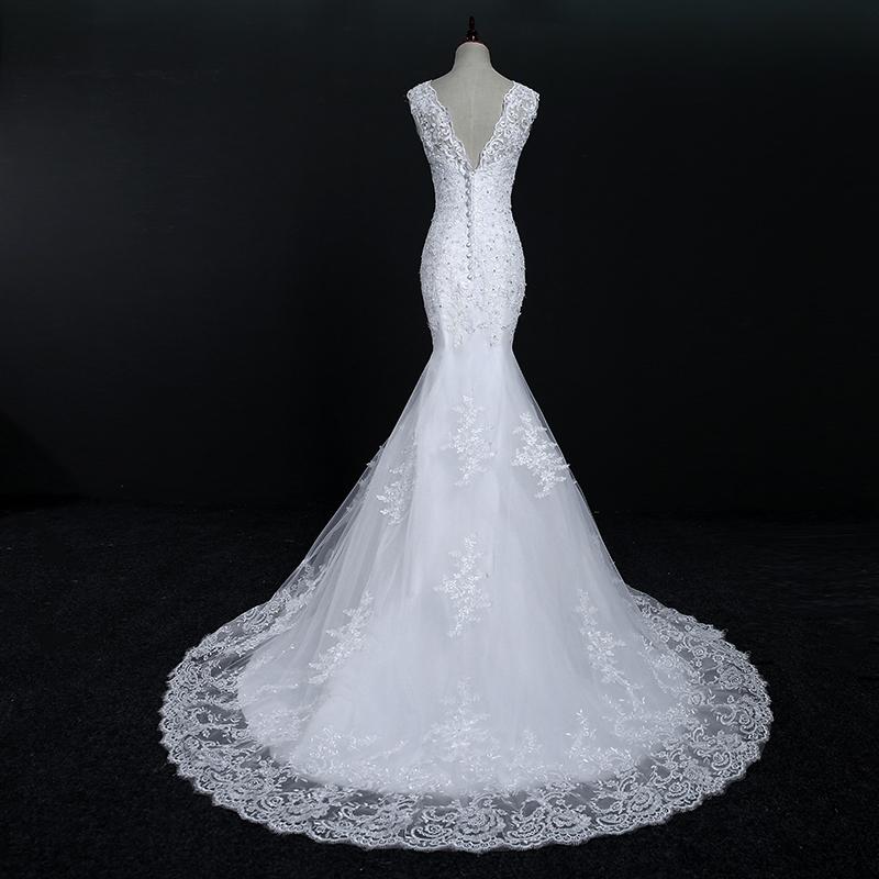 Fansmile New Arrival Lace Mermaid Wedding Dresses 2017 Plus Size Bridal Alibaba Wedding Dress Real Photo Free Shipping FSM-144M 6