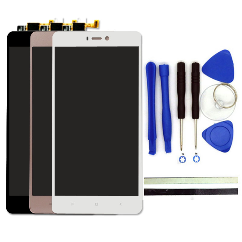 100% New For Xiaomi Mi4S LCD Display + Touch Screen Digitizer Replacement 5inch Mi4S Mi 4S Cell Phone Parts With Free Tools<br>