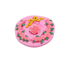 Bow rose rosette candy cake soft silicone mold chocolate pattern cake dessert decoration mold DIY bakery gadget candy mold new