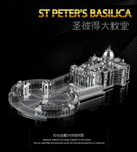 NANYUAN 3D Puzzle B32202 1:1000 3 Sheets STPETER'S BASILICA Metal Assembly Model Famous buildings in Italy Toys & gifts(China)