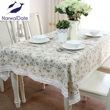 European tablecloths Dandelion linen cover universal cover cloth towel pastoral lace mat for picnic for wedding hotsale
