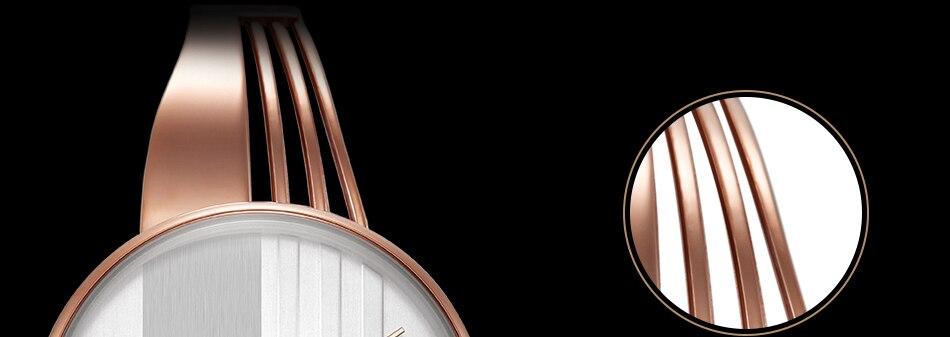 ساعة اليد سوار كوارتز  مطلية بالذهب 13