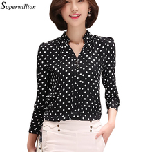 Soperwillton New 2017 Tribal Print Women Blouses Chiffon Large Size Shirts Blusa Women's Clothing blouse shirt Vintage Tops D573(China)
