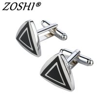 Factory Price Retail Cufflinks For Men Brass Material triangle Design Cuff Links men wedding party jewelry High Quality Cufflink(China)