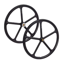 Magnesium Alloy Wheel 5 sPokes Fixie Bicycle Front wheel  Fixed Gear Bike Wheels Rims 700C  bike Wheel  free shipping