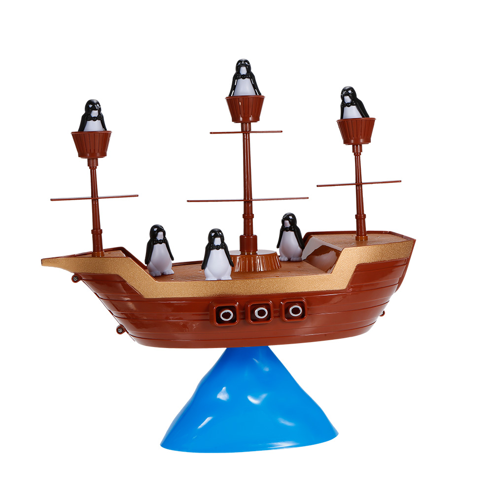 Penguin Pirate Boat Ship Balance Interactive Table Board Game Kids