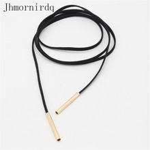 Long chocker necklace black jewlery women leather choker 2017 womens chockers jewelery accessories free dropship suppliers good(China)
