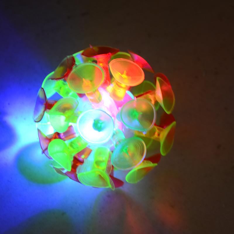 2017 New Plastic Soft Sucker Sticky Slime Adhesive Glowing Ball Children Outdoor Fun Sport Games Educational Novelty Toys Gifts(China)
