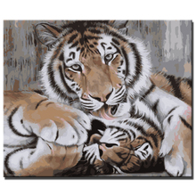 diy tiger oil painting by numbers hand painted canvas oil paintings canvas art paintings home decoration gift