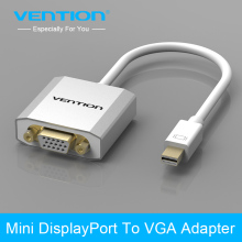 Vention Thunderbolt Mini DisplayPort Display Port DP Male to VGA Female Adapter Cable For Apple MacBook Air Pro iMac Mac(China)