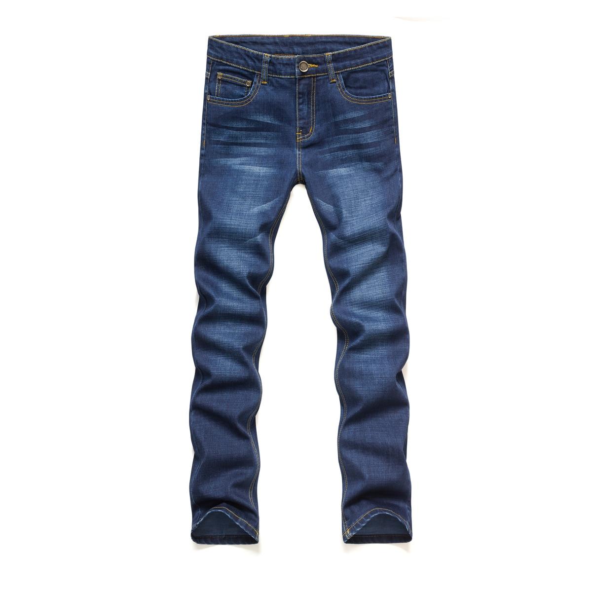 2017 Autumn New Male Elastic Business Affairs Leisure Time Man Pencil Pants men big size blue Jeans Free shippingÎäåæäà è àêñåññóàðû<br><br>