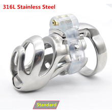 Buy New 316L Stainless Steel Stealth Lock Standard Male Chastity Devices,Cock Cage,Penis Rings,Penis Lock,Chastity Belt,BDSM Men