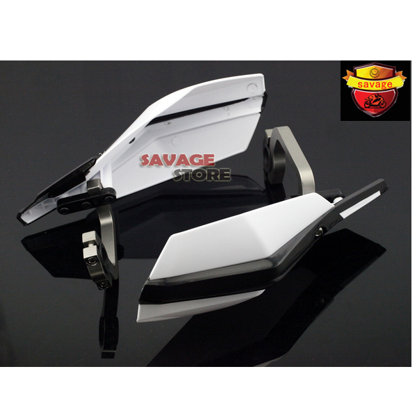 For YAMAHA TT600R TW200 WR125X WR250 WR450 XT660 White Motorbike Dirt Bike Handguard Universal 7/8 22mm Hand Guard<br>