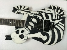 lp gutiar factory Good Quality DIY Electric guitar kit for ESP Custom Skull Carved Basswood Guitar Body  Free Shipping