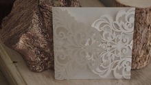 25pcs Rustic Wedding Invitations Laser Cut Invitation Cards,Birthday Greeting Cards Anniserty Engagement Cards Wedding Cards