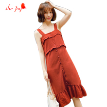Strapless Sweet Summer Dress Ruffles Vestidos Women's Dresses Retro Tankdress Women Clothings Summer Robe Sundress(China)