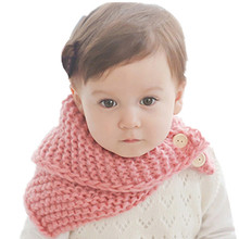 Unisex Autumn Winter Baby Toddler Crochet Knitted Scarf Shawl Cape Cloak Warm Knitted Scarf Boys Girls 0-4 Christmas Gifts(China)