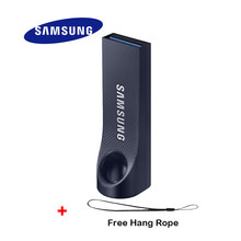 SAMSUNG BAR Usb Flash Drive 128gb Usb Key Clef Usb 3.0 Navy Blue Waterproof Device 100% Support Official Detect Max to 130MB/S