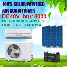 DC 48V low price wall split DC compressor 18000btu frequency conversion solar powered air conditioner