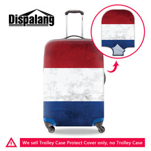 Country Flag Print Elastic Dust Cover For Travel Case Thick Elastic Luggage Protective Covers For 18 - 30 Inch Trolley Suitcase(China)