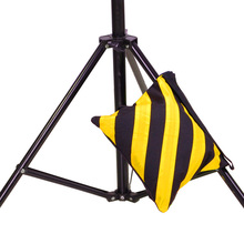 1pcs Canvas Double Photo Studio Counter Balance Weight Sandbags For Flash Light Stand Boom Tripod Yellow and Black