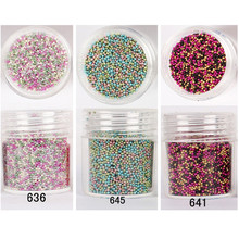 1 Box 10ml Mixed Color Glitter Beads Caviar Beads DIY Manicure 3D Nail Decoration Steel Ball Glitter Powder