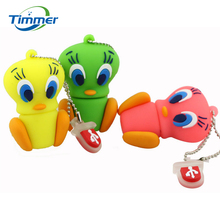 Real capacity USB Flash Drive Daffy Duck Memory Stick 8g 16g 32g 64g  animal cartoon Tweety Bird Pendrive U Disk creative gift